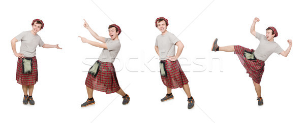 The funny scotsman isolated on white Stock photo © Elnur