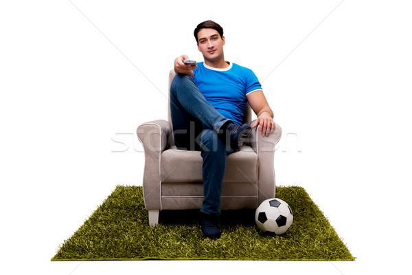 Uomo guardare sport isolato uomo bianco bianco Foto d'archivio © Elnur