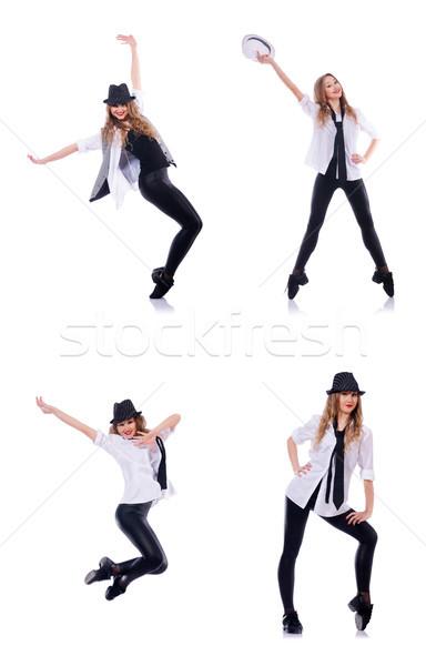 Foto d'archivio: Donna · ballerino · dancing · moderno · dance · moda