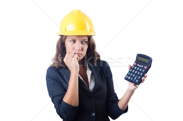 Homme constructeur simulateur blanche femme construction Photo stock © Elnur