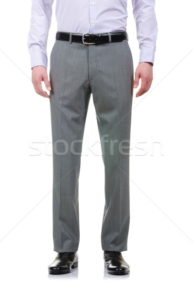 Fashion concept with trousers on white Stock photo © Elnur