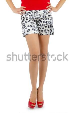 женщину ног медицинской Sexy рыболовная сеть чулки Сток-фото © Elnur