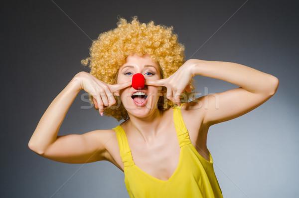 Funny woman in clown dressing Stock photo © Elnur