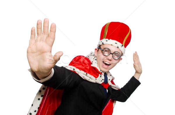 Rei empresário engraçado trabalhar fundo terno Foto stock © Elnur