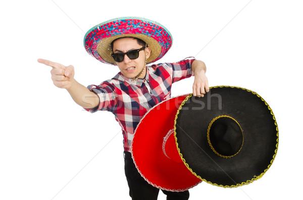 Engraçado mexicano sombrero festa homem felicidade Foto stock © Elnur