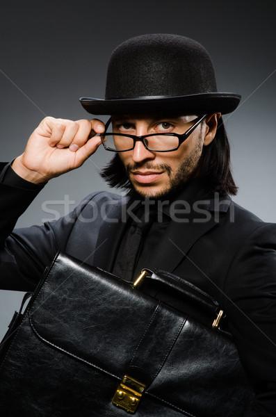 бизнесмен Vintage портфель человека работу Сток-фото © Elnur
