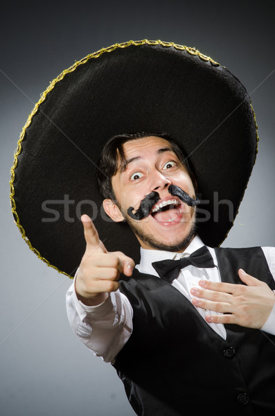 Mexican man in funny concept Stock photo © Elnur