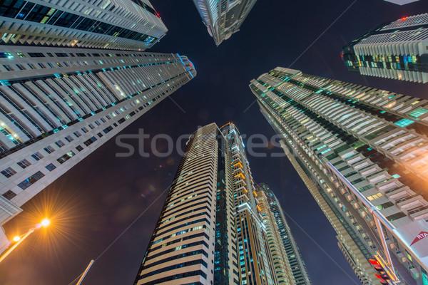 Alto residencial edificios Dubai edificio ciudad Foto stock © Elnur