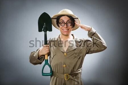 Funny safari cazador naturaleza gafas diversión Foto stock © Elnur