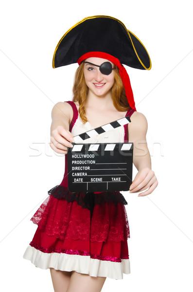 Kobieta pirackich film pokładzie moda sztuki Zdjęcia stock © Elnur