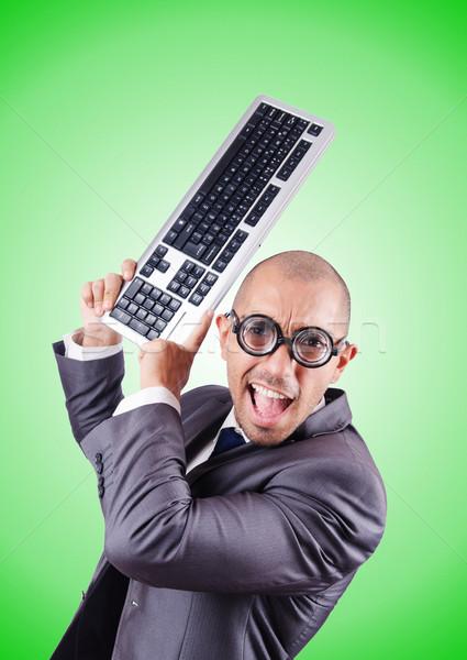 Сток-фото: NERD · бизнесмен · градиент · бизнеса · улыбка