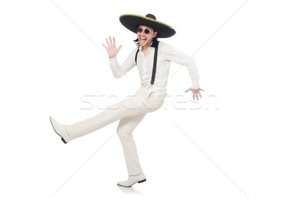Mexicano homem sombrero isolado branco Foto stock © Elnur