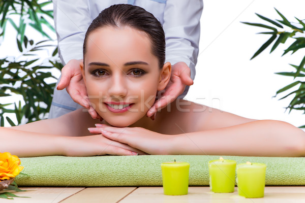 The woman during massage session in spa salon Stock photo © Elnur