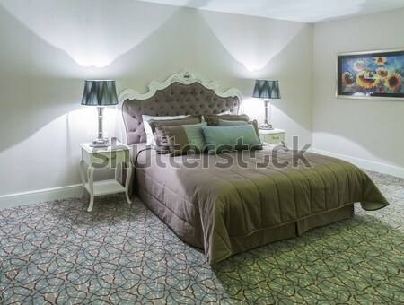 Stockfoto: Moderne · hotelkamer · groot · bed · huis · ontwerp
