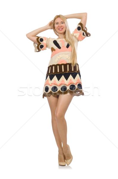 Stockfoto: Blond · haren · model · ontwerper · kleding