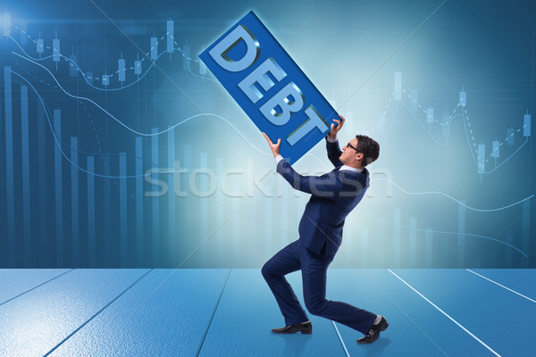The businessman in debt business concept Stock photo © Elnur
