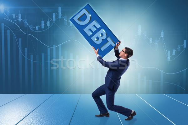 бизнесмен долг бизнеса деньги человека банка Сток-фото © Elnur