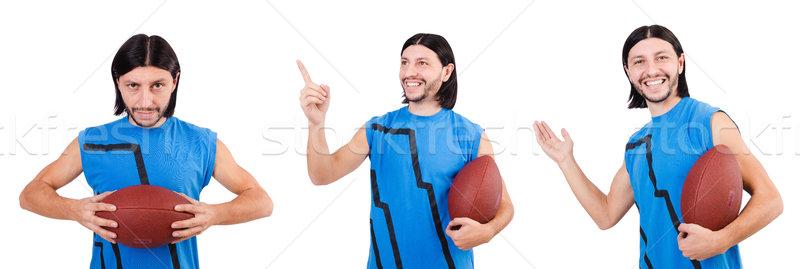 Jóvenes americano futbolista blanco fútbol deportes Foto stock © Elnur