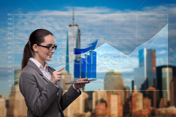 Young businesswoman in financial trading concept Stock photo © Elnur
