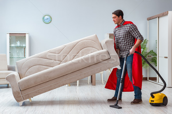 Super hero cleaner working at home Stock photo © Elnur
