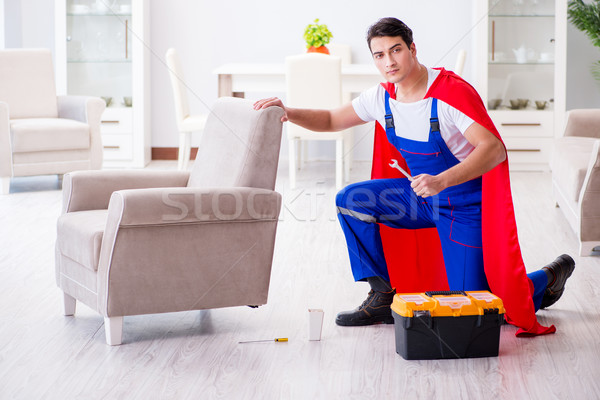 Superhero repairman with tools in repair concept Stock photo © Elnur