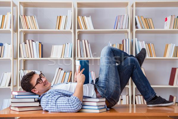 молодые студент перерыва падение спящий Сток-фото © Elnur