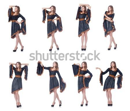 Model kürk kız yüz Stok fotoğraf © Elnur
