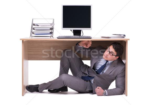 ビジネスマン 隠蔽 男 表 悲しい 仕事 ストックフォト © Elnur
