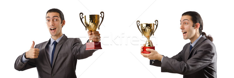 Collage of businessman receiving award Stock photo © Elnur
