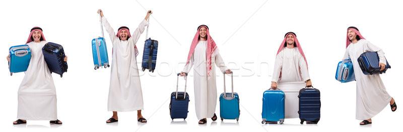 Arap adam bagaj beyaz iş arka plan Stok fotoğraf © Elnur
