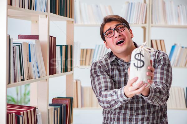 Jóvenes estudiante caro dinero libro Foto stock © Elnur