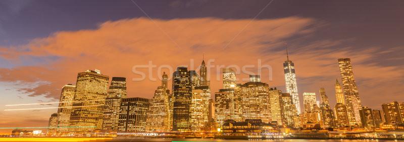 Ansicht senken manhattan Business Apfel Nacht Stock foto © Elnur