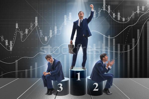 Geschäftsmann erfolgreich Transaktion Business Gold Grafik Stock foto © Elnur