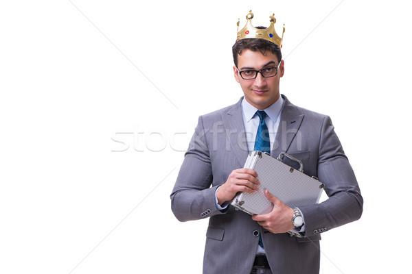 Króla biznesmen odizolowany biały garnitur wykonawczej Zdjęcia stock © Elnur