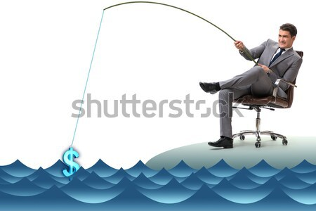 Businessman in business travel concept isolated on white Stock photo © Elnur
