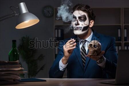 Szörny kép fényképkeret sötét nő éjszaka Stock fotó © Elnur