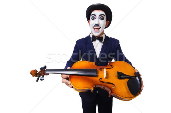 Férfi arc maszk játszik hegedű zene Stock fotó © Elnur