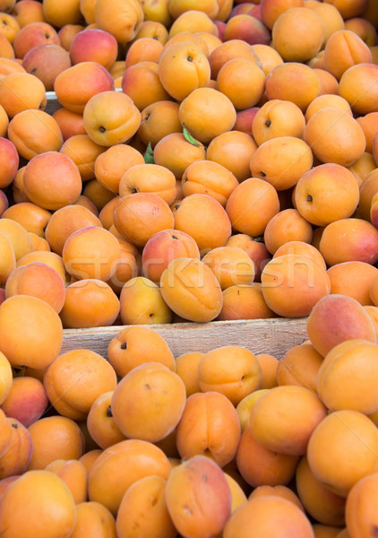 Apricots on sale as summer fruit Stock photo © Elnur
