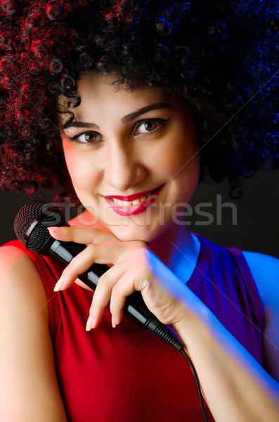 女性 パフォーマー ディスコ パーティ 幸せ 背景 ストックフォト © Elnur
