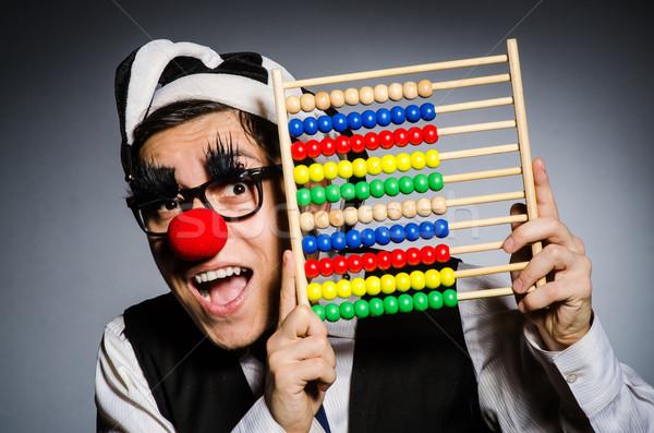 Drôle clown boulier comptables sourire heureux Photo stock © Elnur