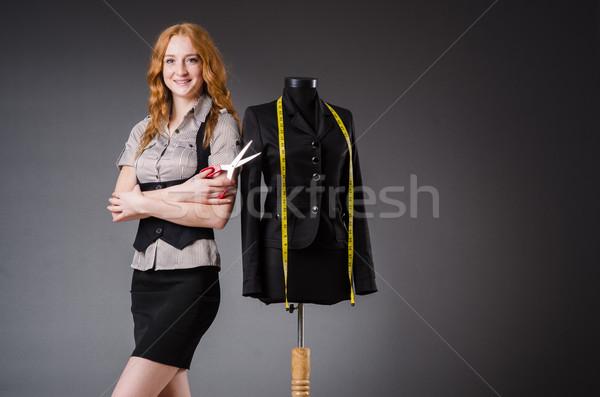 женщину портной рабочих новых платье моде Сток-фото © Elnur