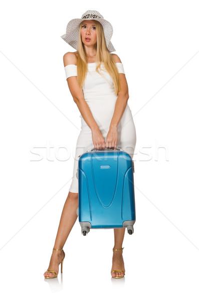 Kobieta odizolowany biały dziewczyna szczęśliwy Zdjęcia stock © Elnur