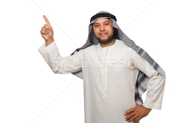 Emiraty człowiek odizolowany biały działalności biznesmen Zdjęcia stock © Elnur