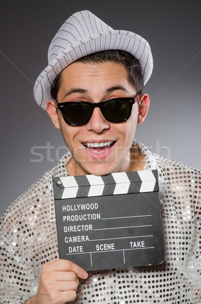 Jeunes caméra assistant fond art industrie Photo stock © Elnur