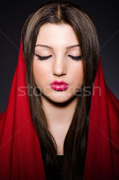 портрет головной платок женщину счастливым моде Сток-фото © Elnur