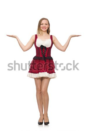 Woman wearing red dress in fashion concept isolated on white Stock photo © Elnur