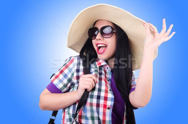 Mulher jovem pronto férias de verão negócio menina fundo Foto stock © Elnur