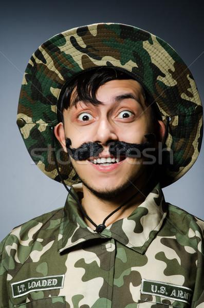смешные солдата военных человека фон безопасности Сток-фото © Elnur