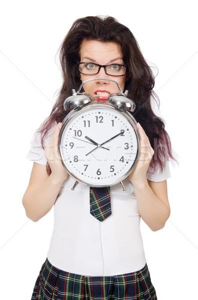 Student missing her deadlines isolated on white Stock photo © Elnur