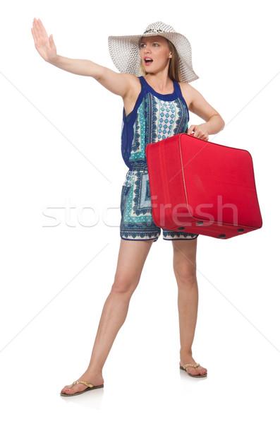 Persona bagaglio donna ragazza bellezza Foto d'archivio © Elnur